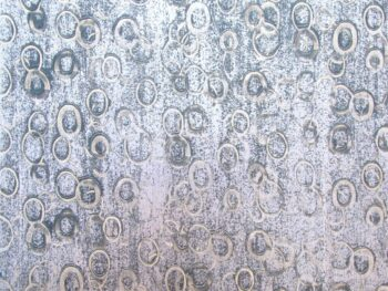 contemporary decorative finish - blue circles on silver background